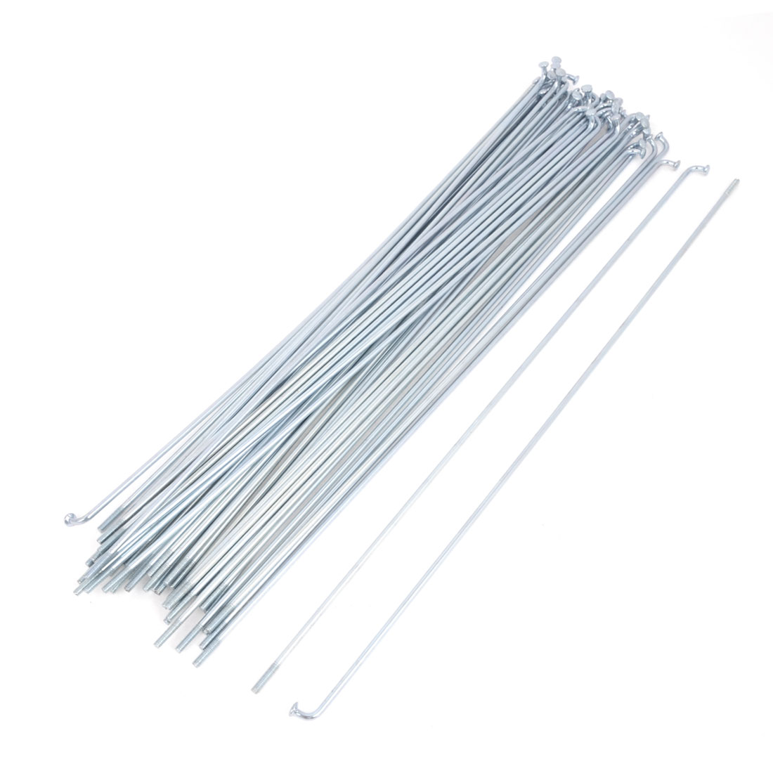 "50 Pcs Silver Tone Metal Cycle Bike Bicycle Spokes 9.4"" Long"