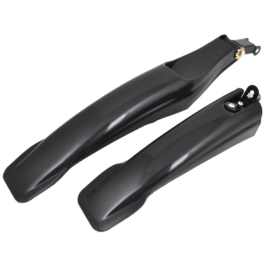 Black Plastic Mountain Bike Bicycle Front Rear Mudguard Fender Set 2 in 1