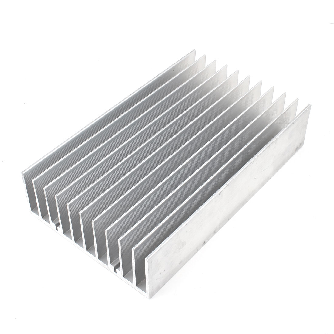 Silver Tone Heat Sink Cooling Cooler Fin 200mmx120mmx45mm for Mosfet IC