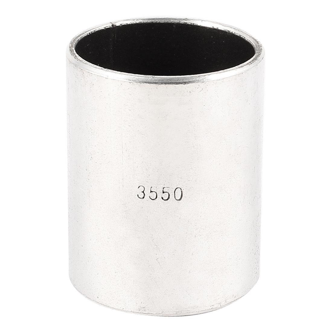 Silver Tone Self Lubricating Metal Plain Bearing Sleeve 50mm x 39mm x 35mm