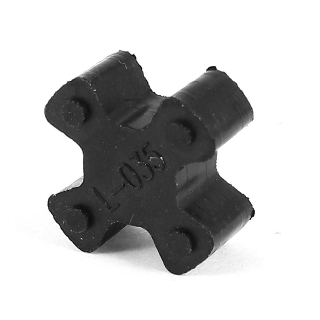 Black 15mm Diameter 4 Petals PU Coupling Shaft Center Spider Coupler Damper