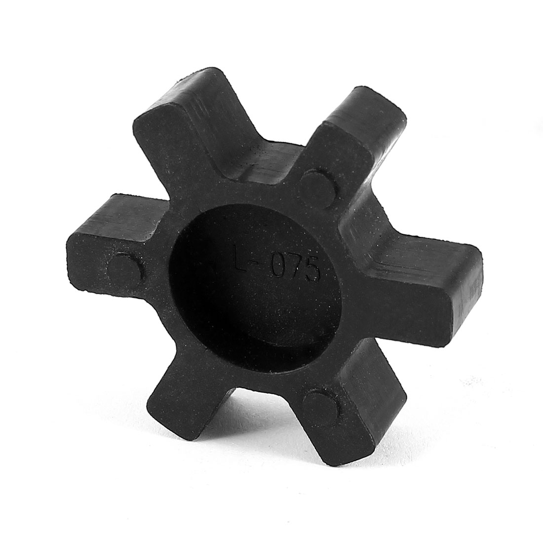Black 45mm Diameter 6 Petals PU Coupling Shaft Center Spider Coupler Damper