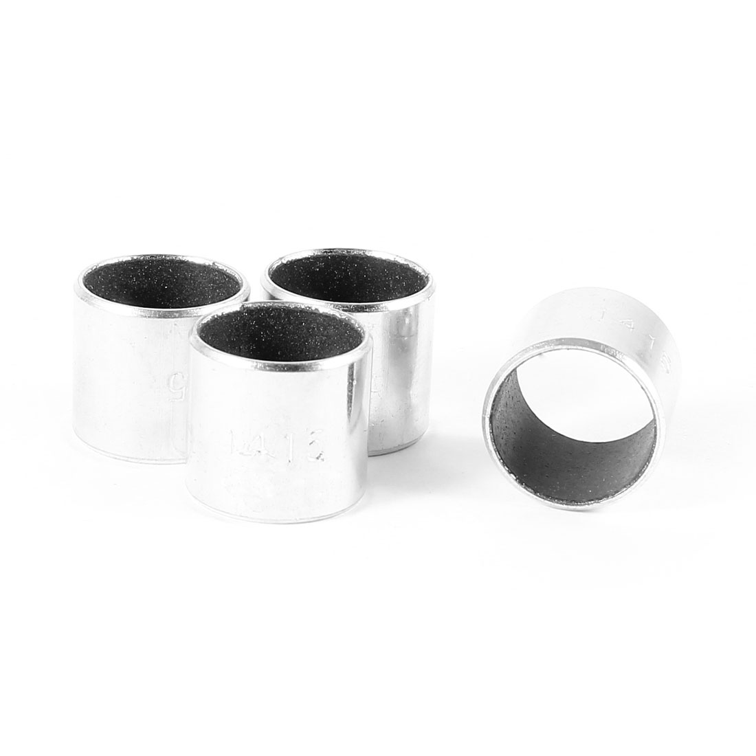 4pcs Silver Tone Self Lubricating Metal Plain Bearing Sleeve 15mm x 16mm x 14mm