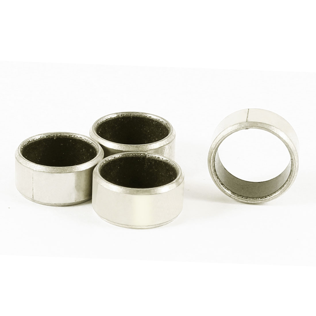 4pcs Silver Tone Self Lubricating Metal Plain Bearing Sleeve 6mm x 12mm x 10mm