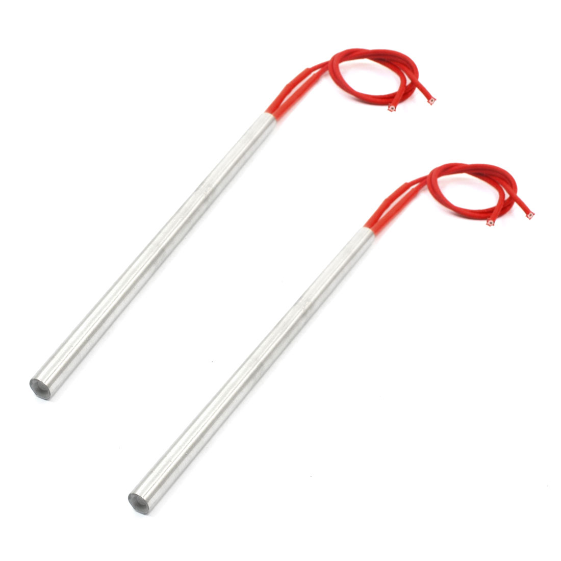 9.5 x 200mm Cylinder Shaped Red Dual Wire Electric Mold Single End Heating Tool Cartridge Heater 110V 800W 2pcs