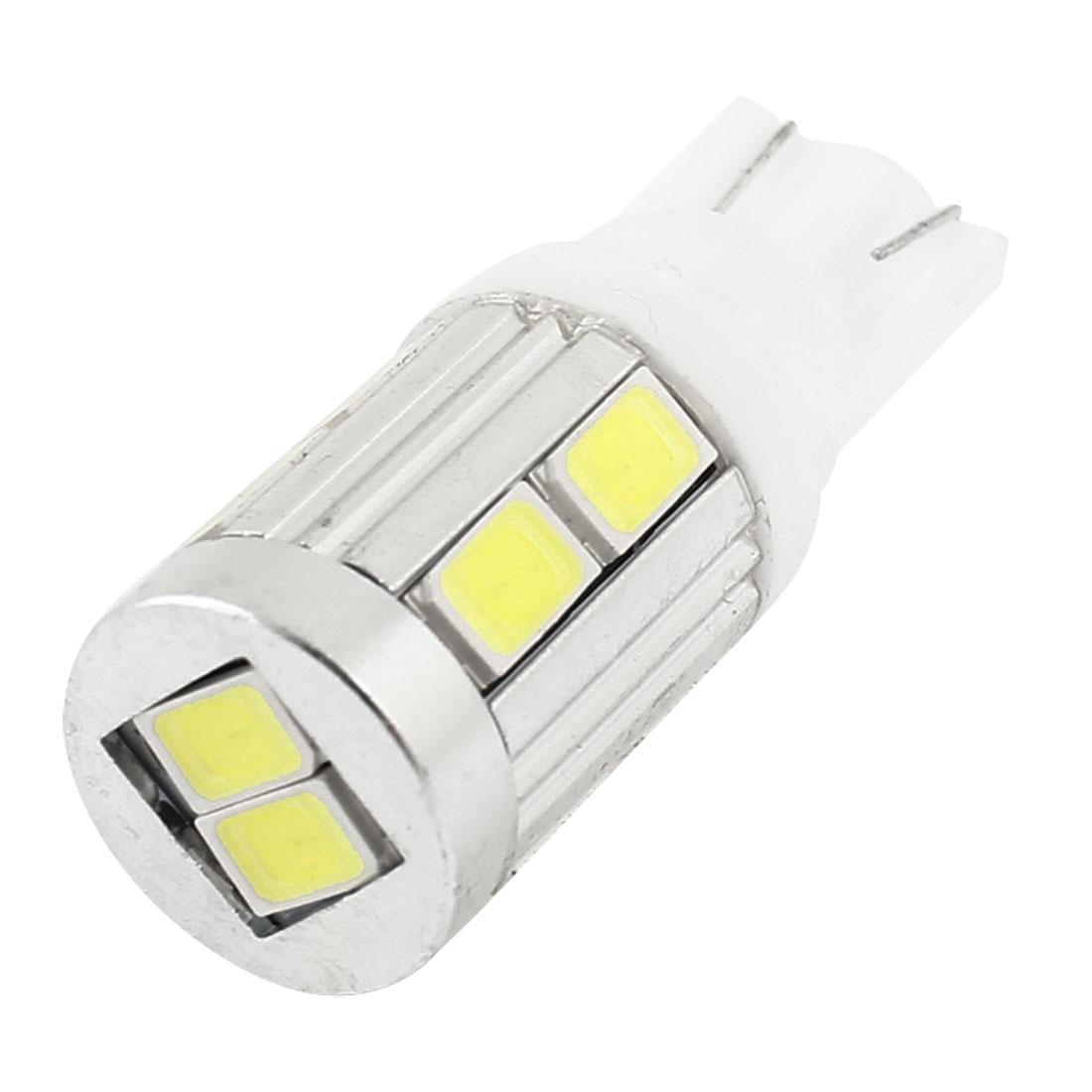 Car White T10 906 579 W5W 5630 SMD 10-LED Dashboard Light Lamp Bulb internal