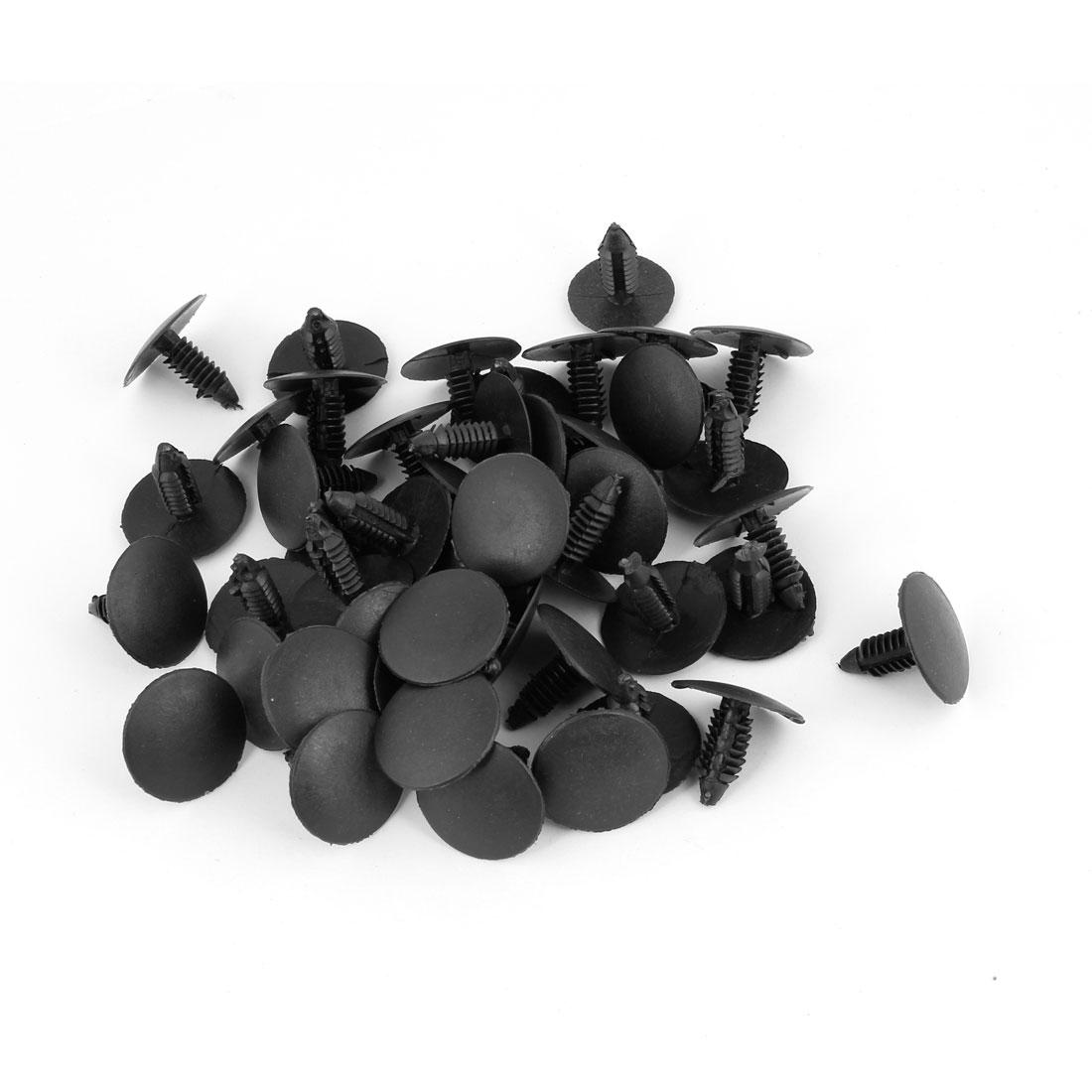 50 Pcs Plastic Fastener Rivet Retainer Hood Insulation Clips Black