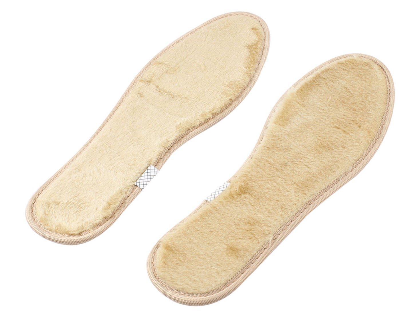 Women Pair Khaki Winter Warm Plush Boots Shoe Insert Pad Insole US 7.5