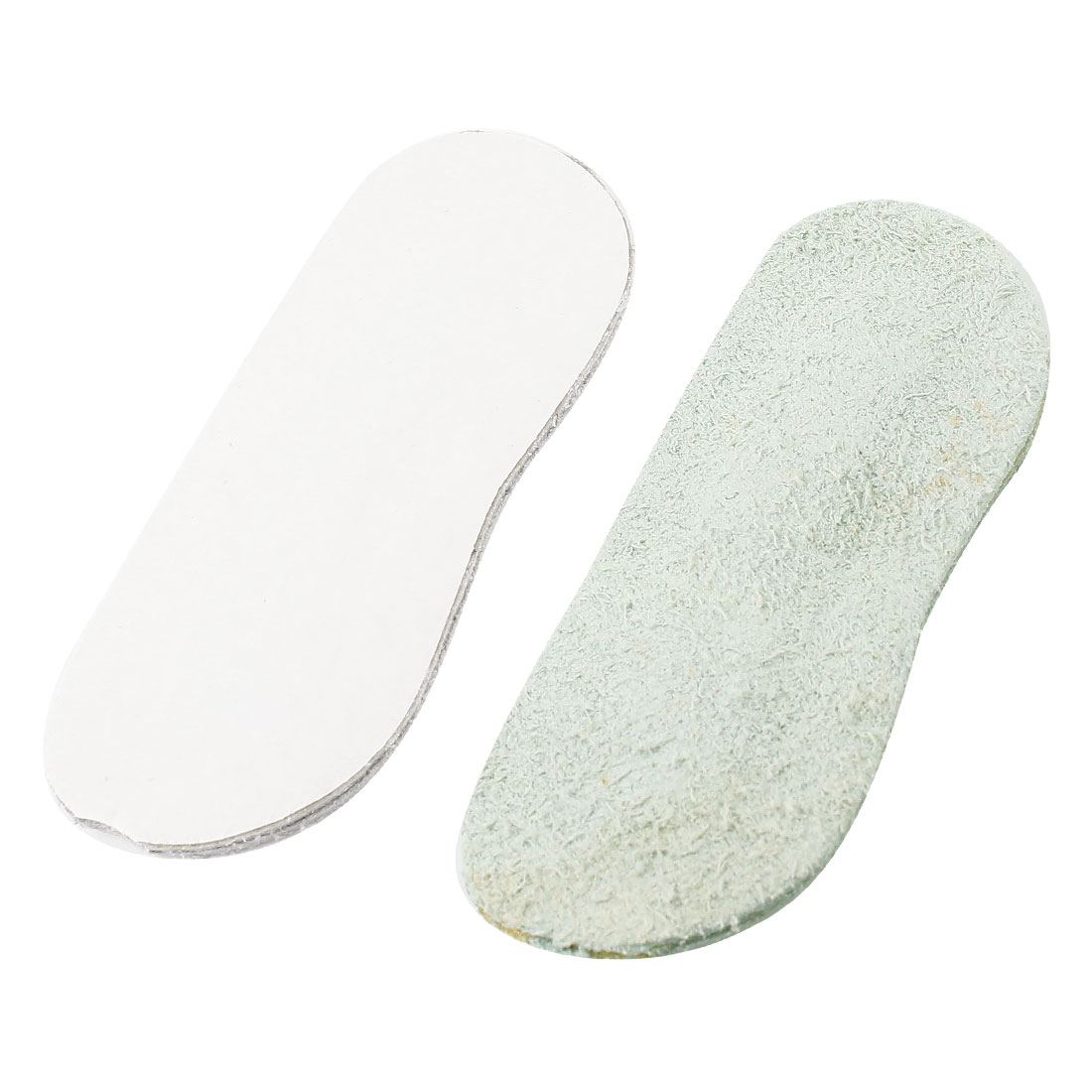 Pair Gray Faux Leather Self Adhesive Foot Care Shoes Cushion Insoles Back Pads