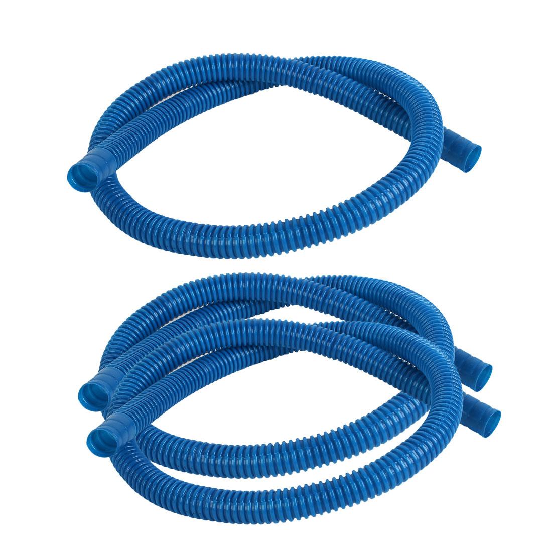 Blue Plastic Washing Machine Drain Washer Pipe Dishwasher Hose 3PCS