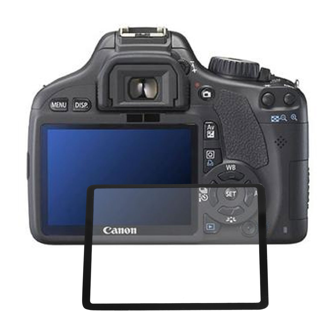 Clear Black LCD Screen Optical Glass Guard for Canon 500D 450D Digital Camera