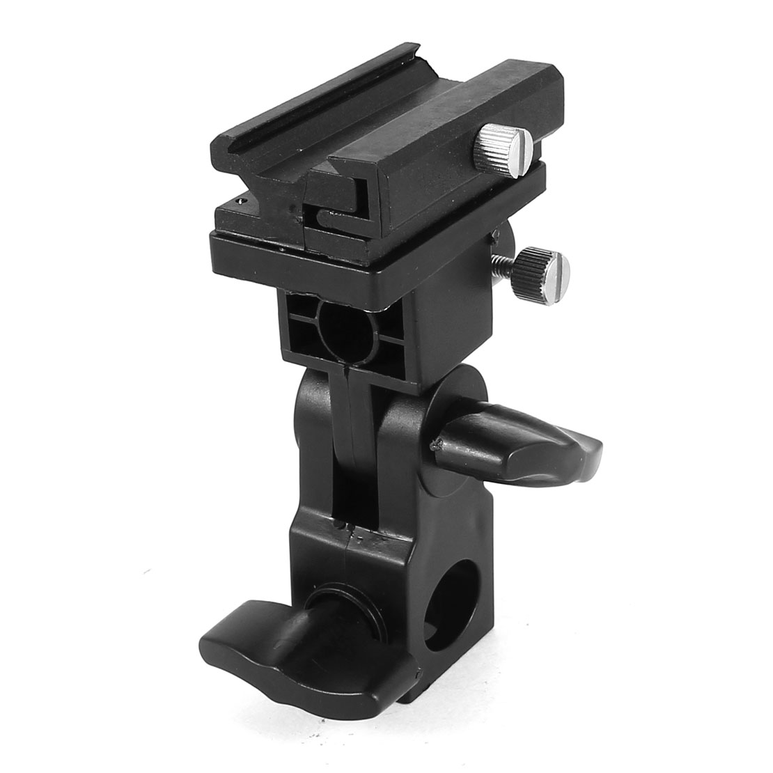 Flash Hot Shoe Mount Adapter Studio Umbrella Holder Swivel Light Stand Bracket
