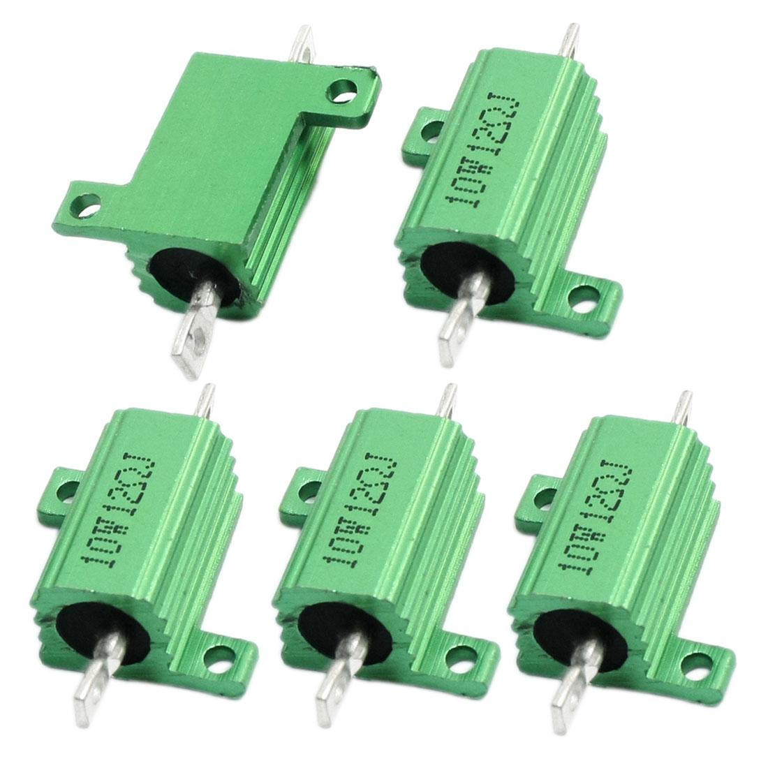 5Pcs 12 Ohm 5% 10W Aluminium Clad Heatsink Wirewound Power Resistors