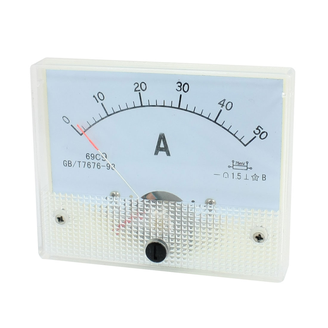 Class 1.5 DC 0-50A Current Meter Analog Panel Ammeter Amperemeter