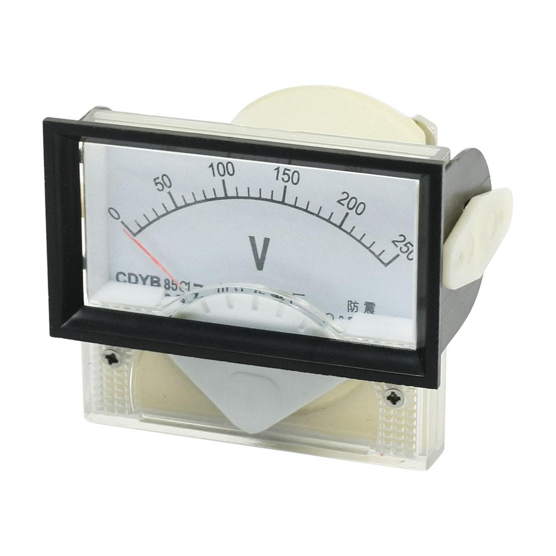 85C17 Analog Volt Voltage Measurement Voltmeter Panel Meter DC 0-250V