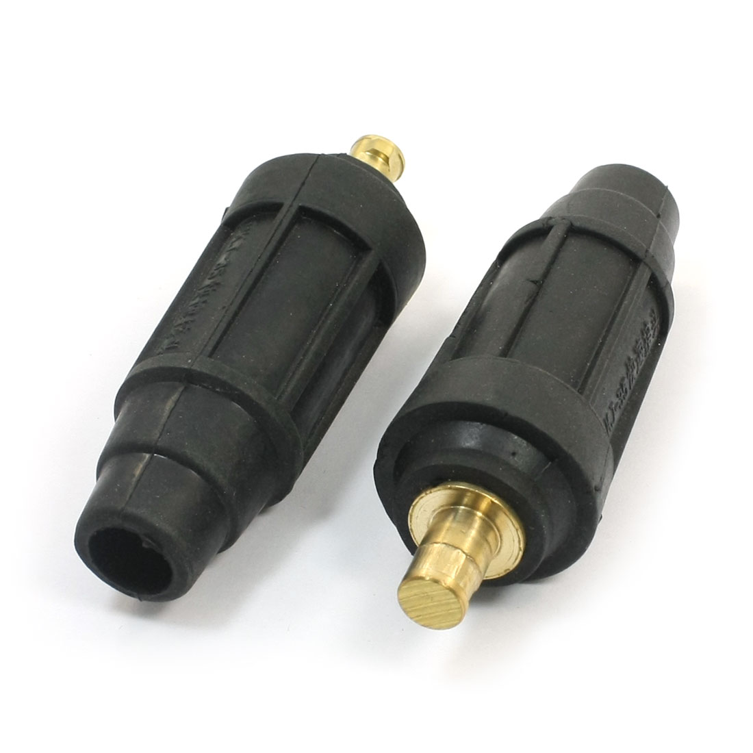 2pcs Plastic Coated 160-250A Welding Cable Connector Plug Adapter Fitting