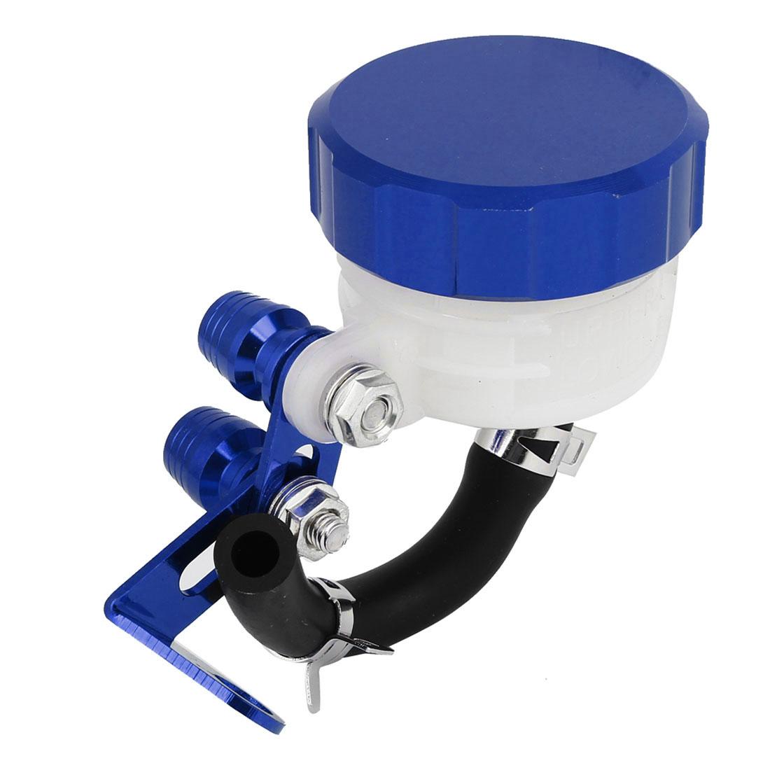 Blue Plastic Braking System Master Brake Reservoir Oil Cup for Motorbike