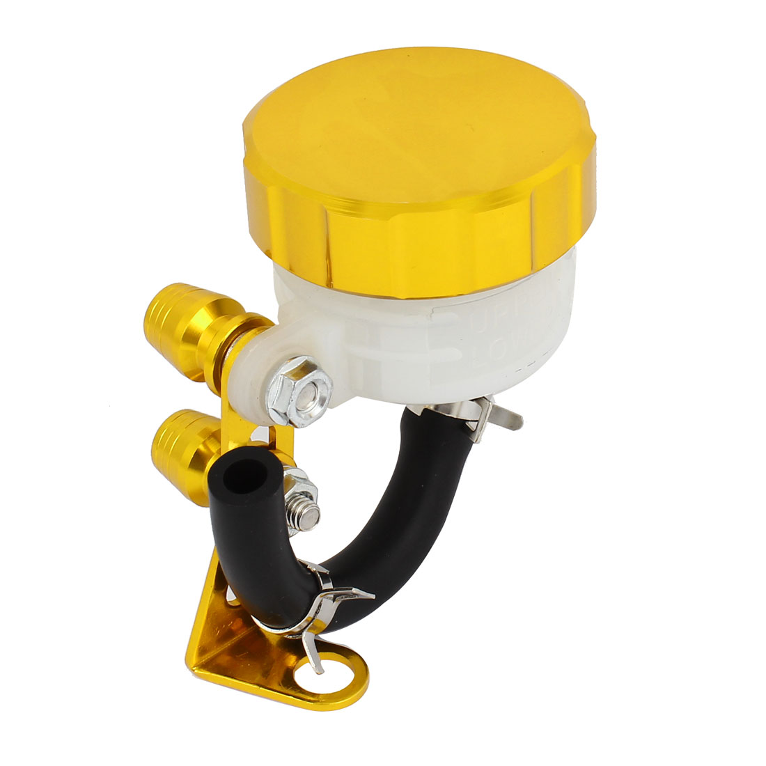 Gold Tone Plastic Braking System Master Brake Reservoir Oil Cup for Motorbike Motorcycle