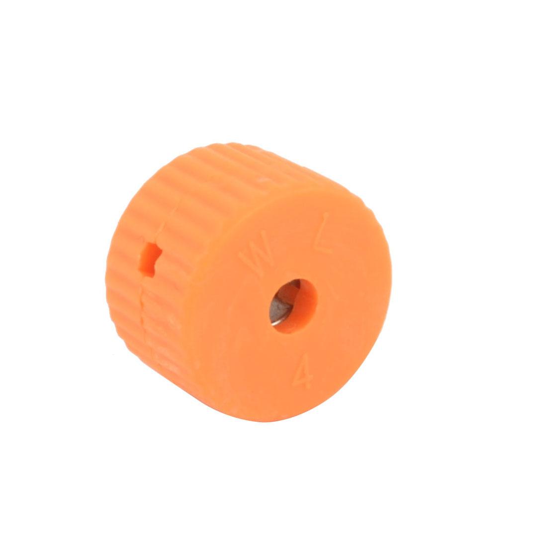 Orange Plastic Housing 4mm Hole Diameter Screwdriver Bit Magnetic Ring