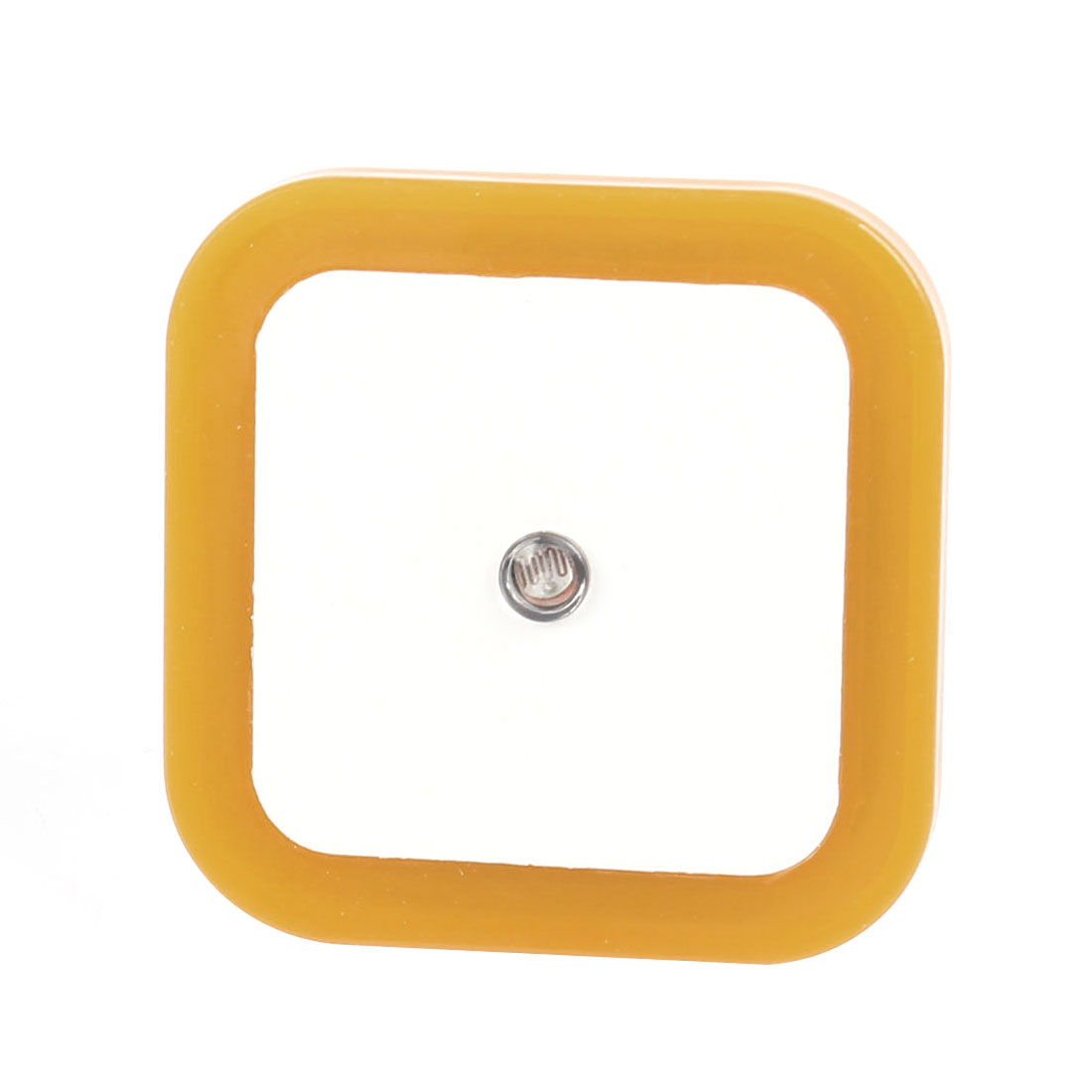 US Plug 65mm x 65mm Energy Saving Yellow Light LED Control Sensor Night Lamp AC 110V-220V