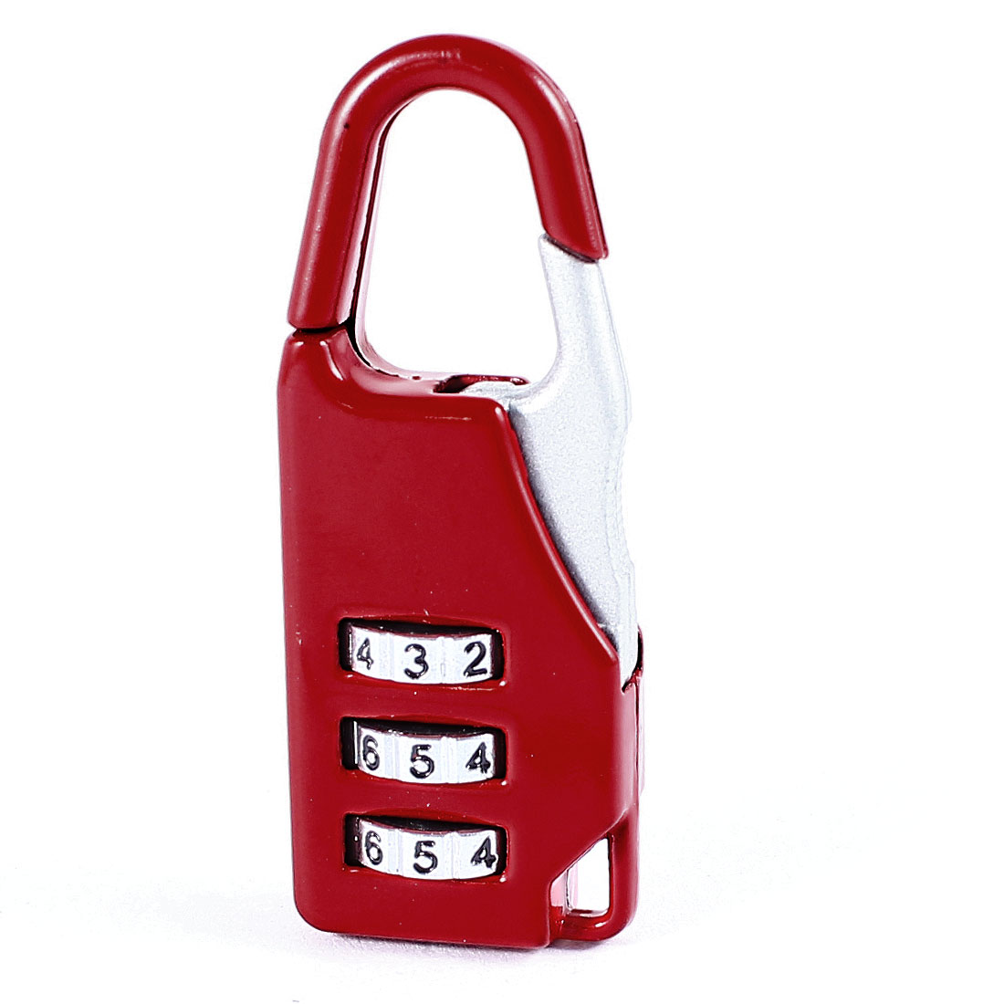 Red Metal Handbag Design 3 Digit Security Code Password Combination Lock