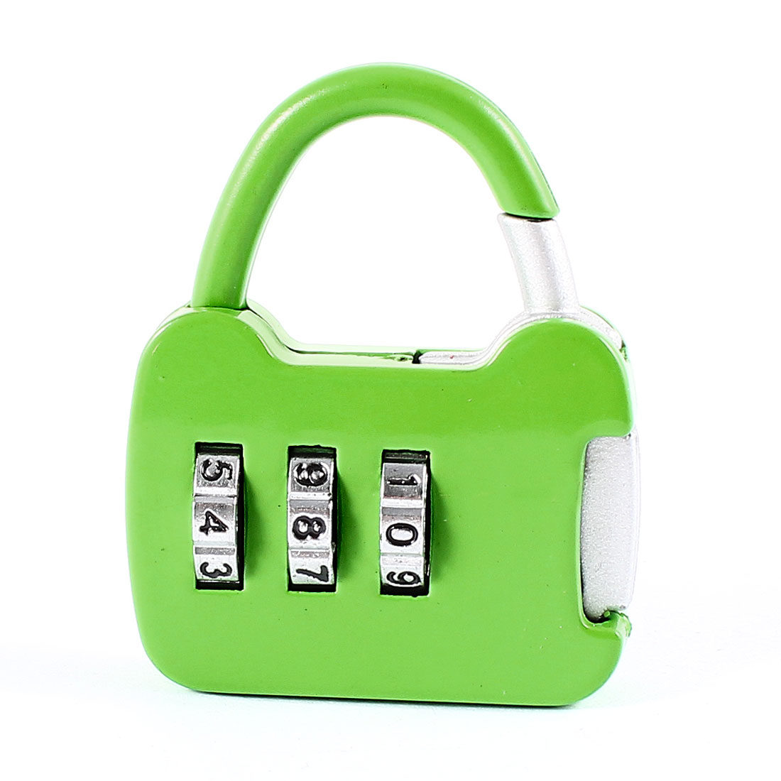 Travel Suitcase Luggage Green Metal Handbag Shape Resettable 3 Digit Combination Lock Padlock