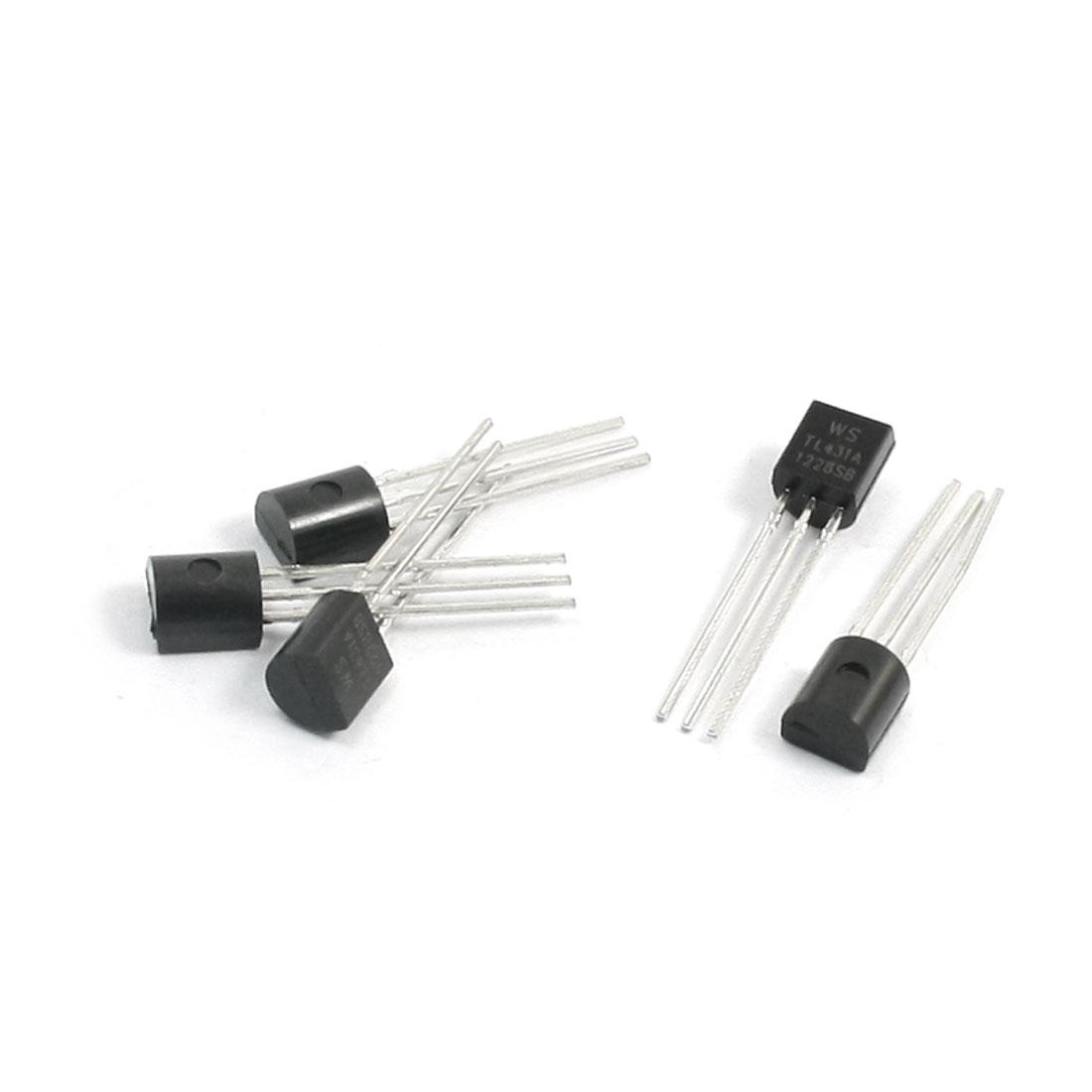 5Pcs TL431A TO-92 Type Adjustable Precision Shunt Regulator 2.5-36V