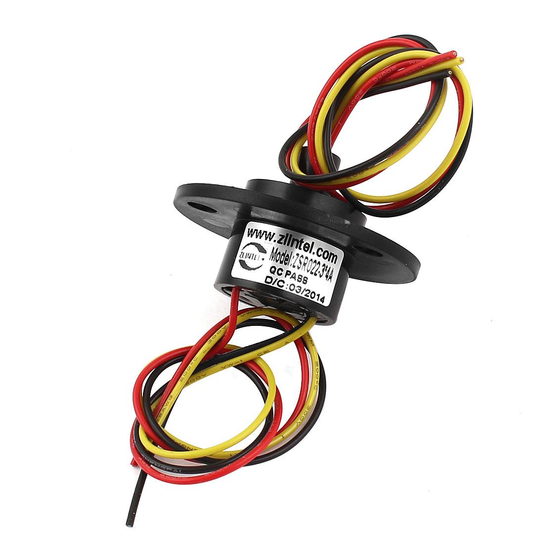ZSR022 250RPM 3 Wires 3*4A 4A Black Capsule Slip Ring AC/DC 380V