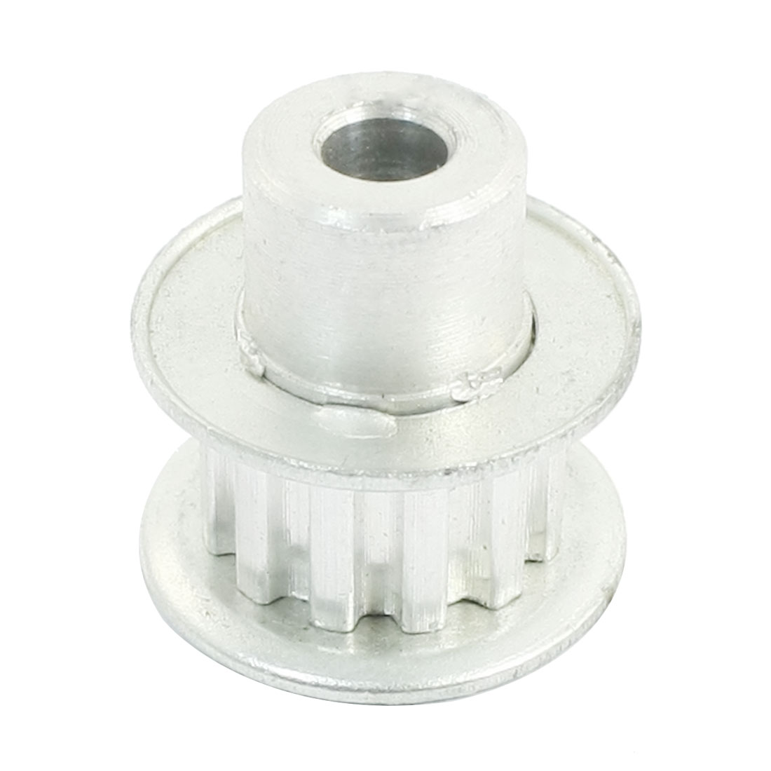 Aluminum Alloy XL Type 14 Teeth 6mm Bore Dia Double Flanged Motor Drive Synchronous Timing Pulley