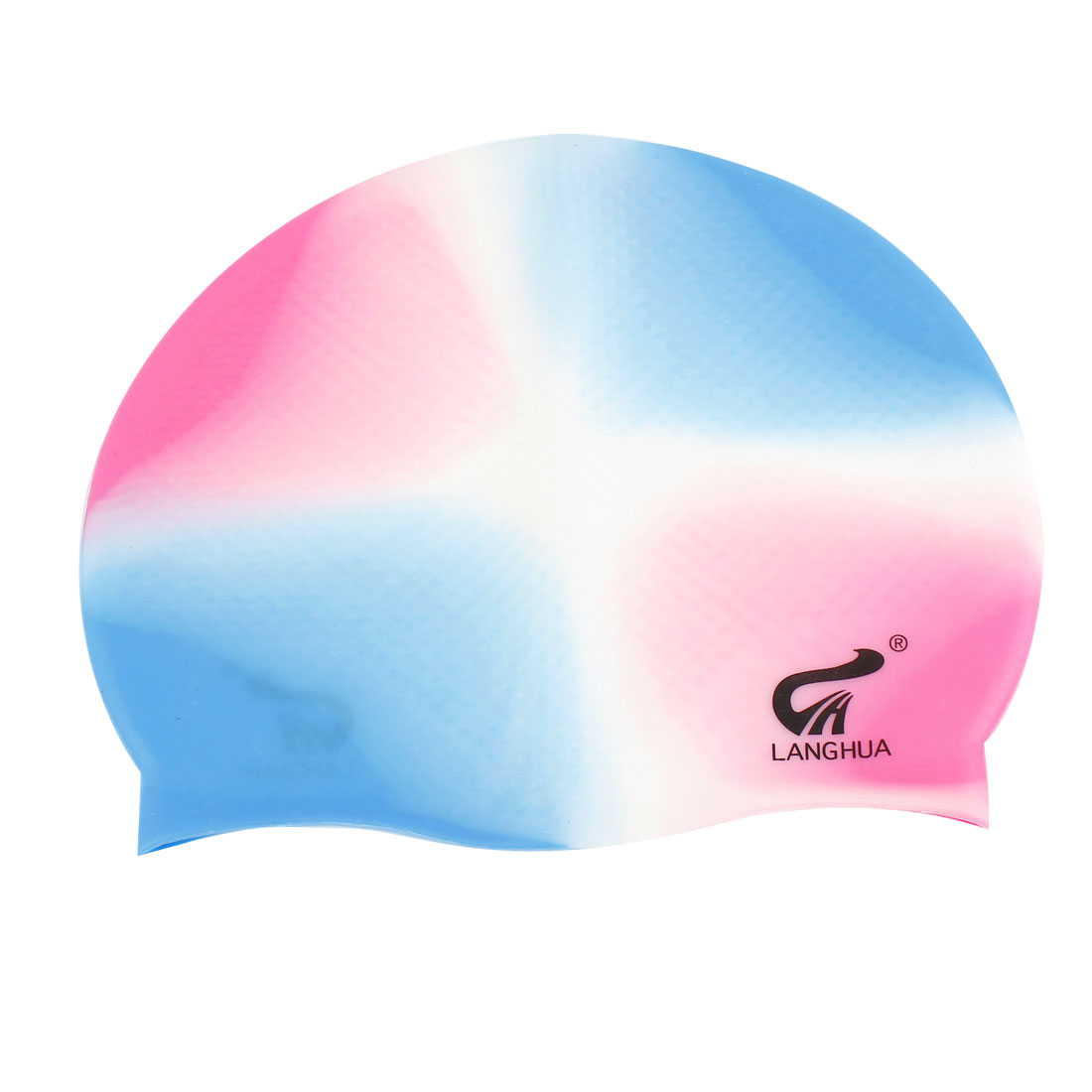 Elastic Swim Swimming Cap White Pink Blue for Women Men