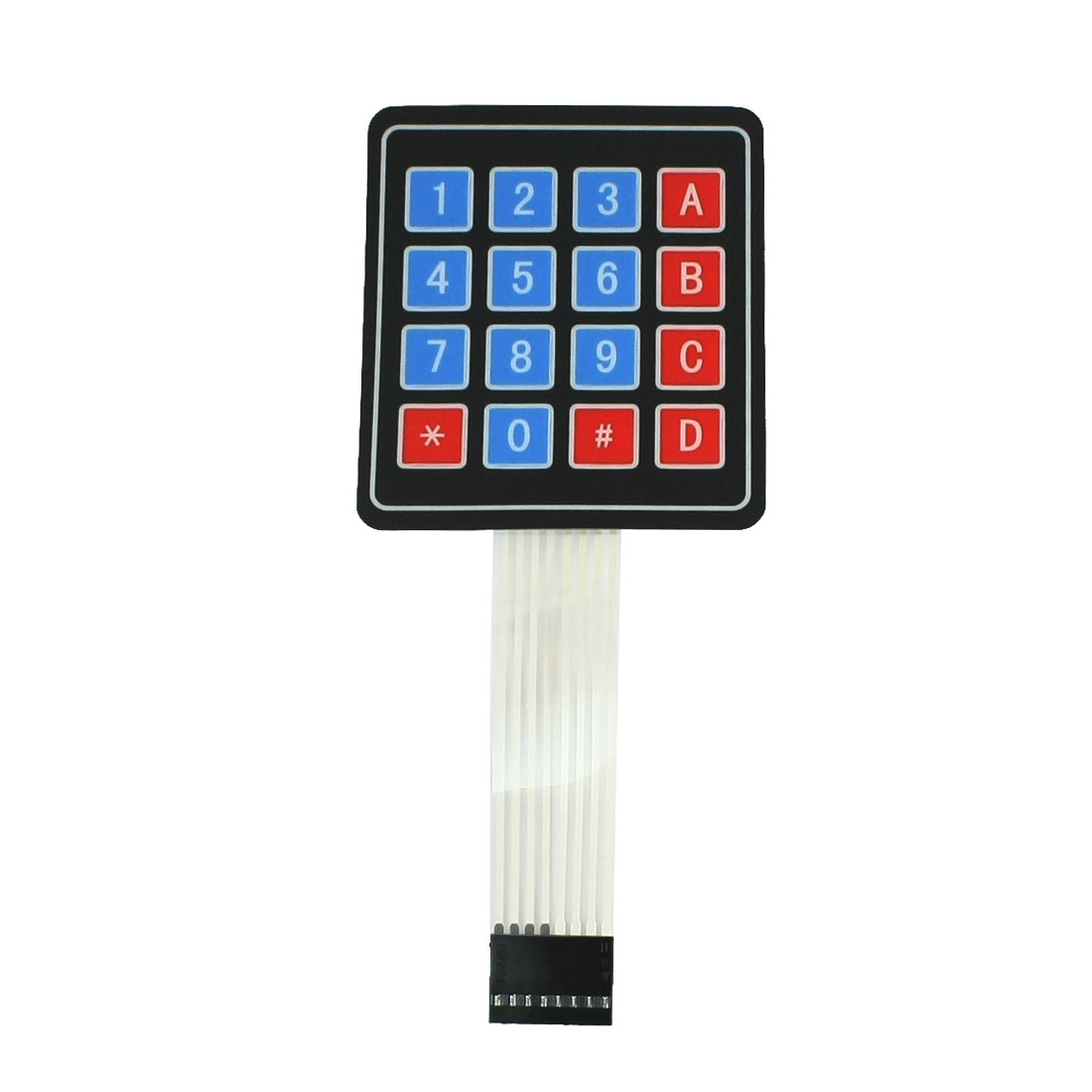 4x4 Matrix 16 Key Membrane Switch Keypad Keyboard Super Slim DC 35V