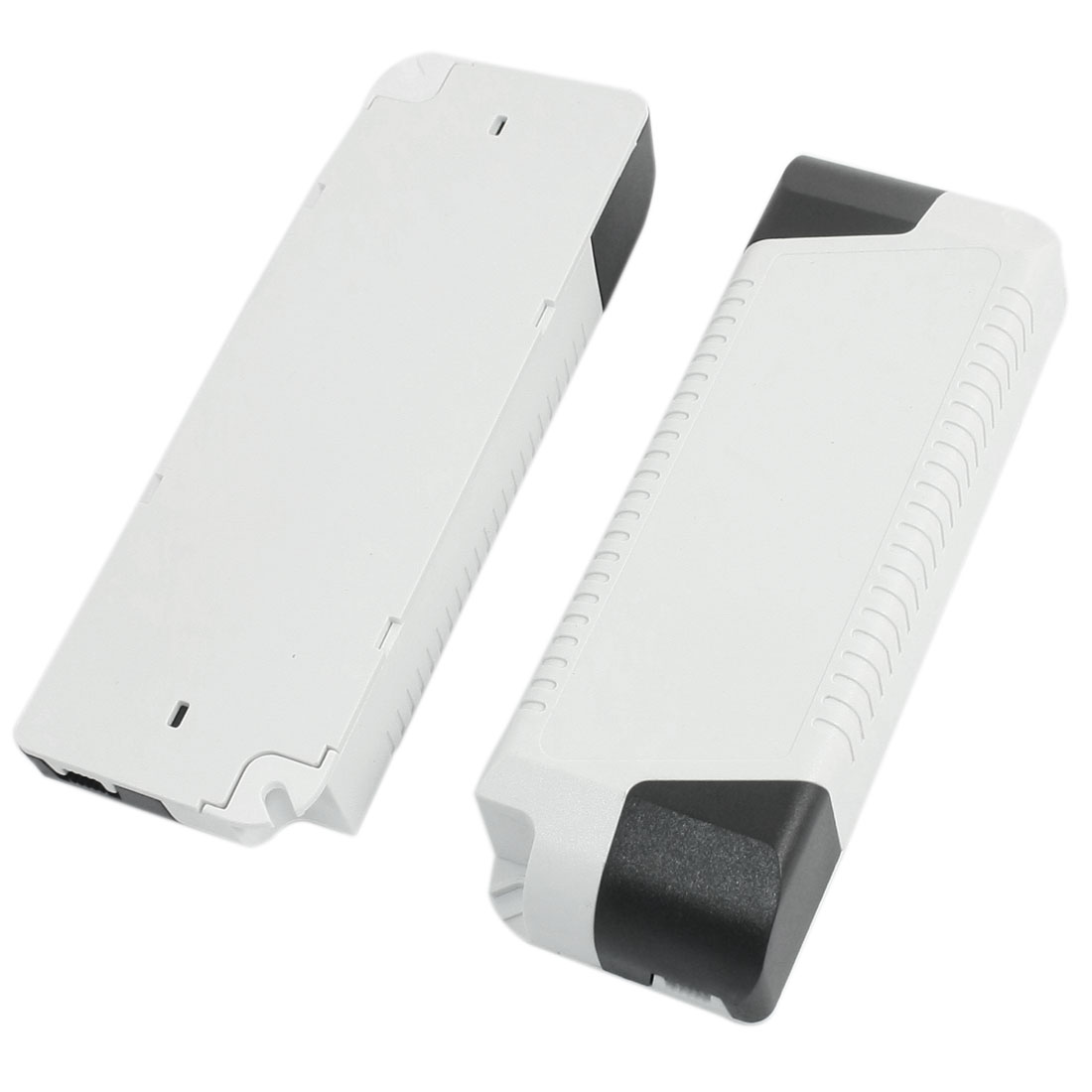2pcs Black White 132x45x24mm LED Driver Power Supply Junction Boxes