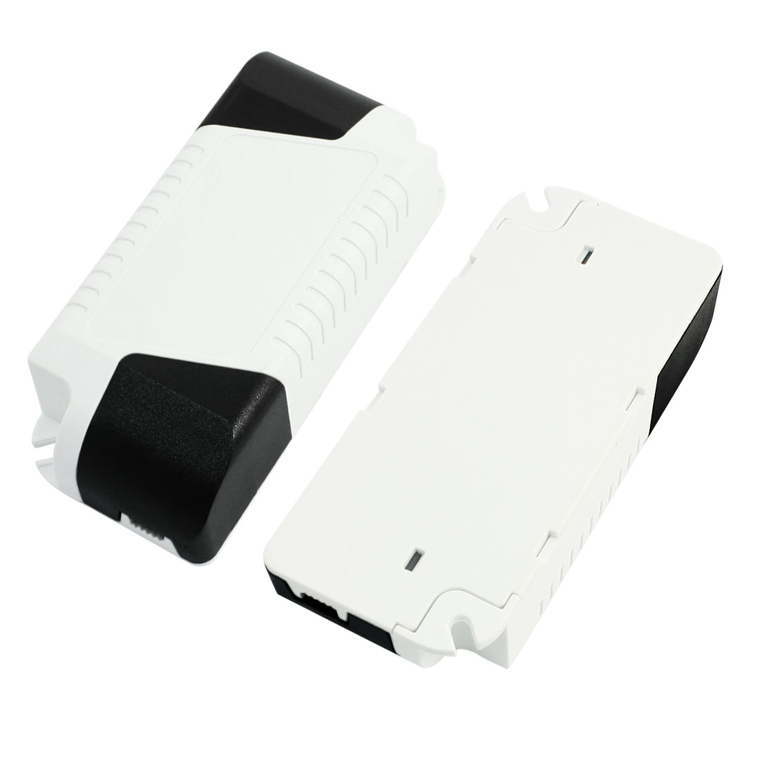 2Pcs White Black 88mmx39mmx25mm LED Driver Enclosure Junction Boxes