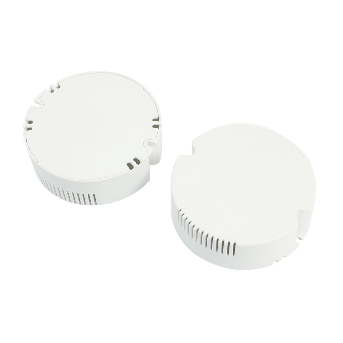 2pcs Sealed White Plastic Round Shape Housing Box 75 x 25mm for LED Power Supply Driver Ceiling Lights
