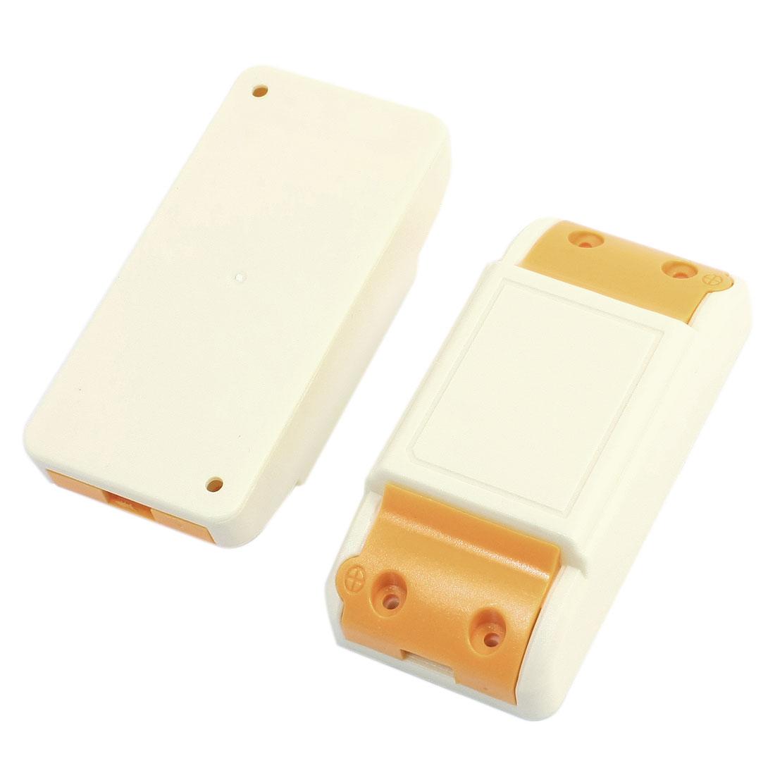 2PCS Beige Orange 94x45x27mm LED Driver Plastic Junction Case Box