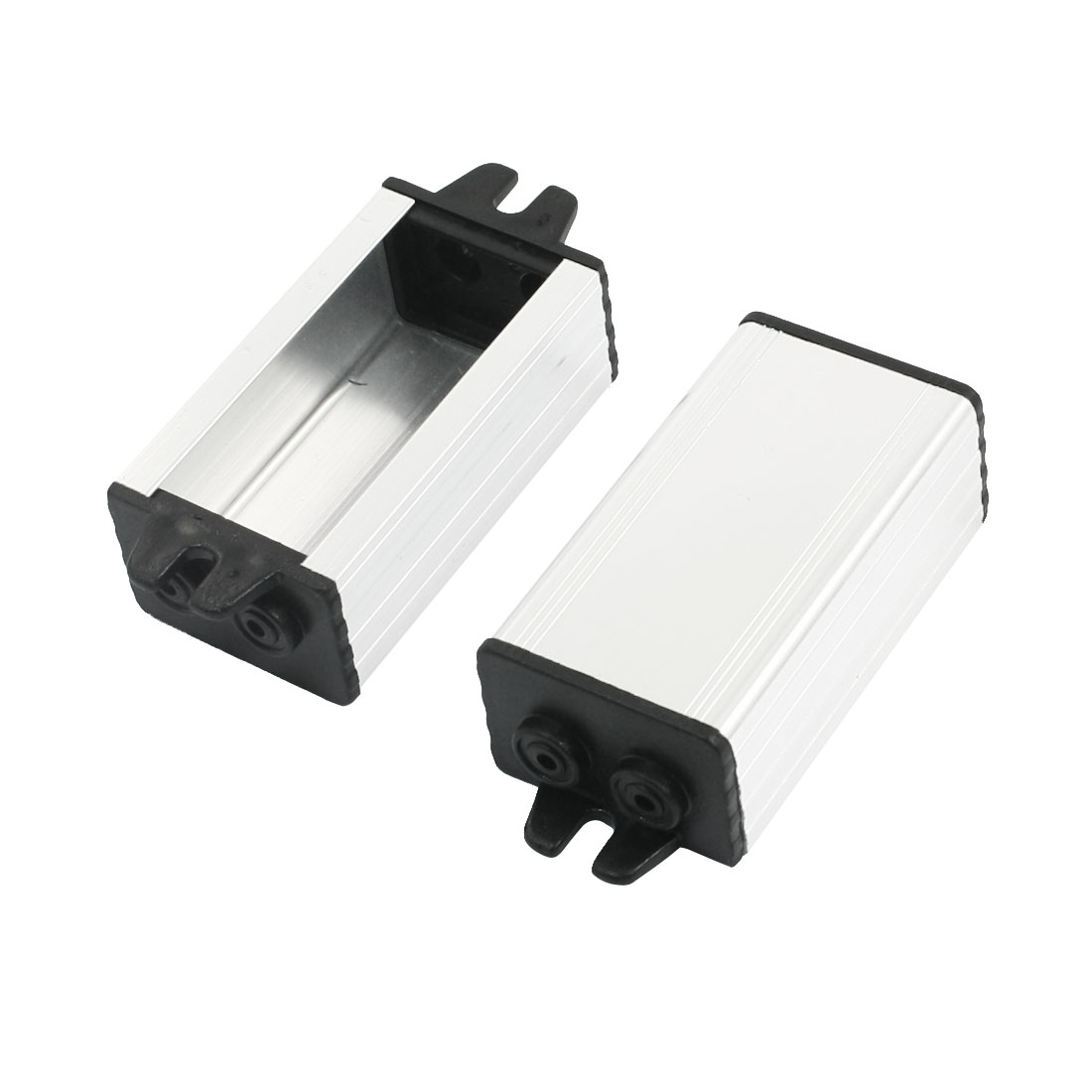 2pcs Waterproof Surface Mount Aluminum Power Supply Driver Housing 55x30x20mm