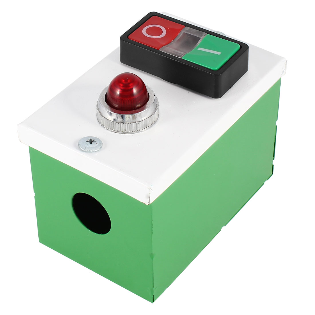 Ui 600V 10A Yellow LED Indication Momentary Push Button Switch + Red Light Station