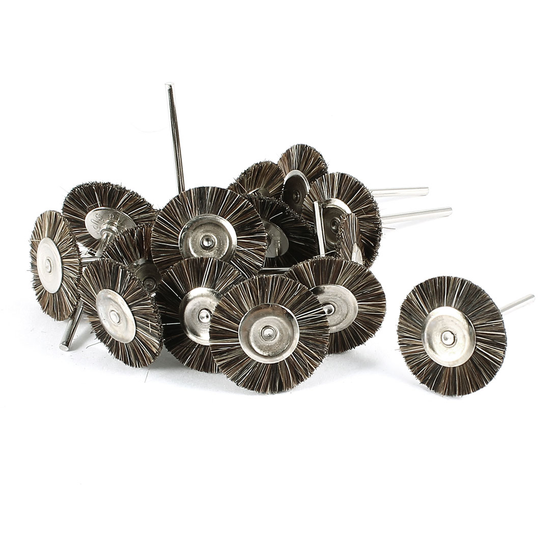 15 Pcs 25mm Dia Gray Nylon Brush Polishing Wheel Polishers for Rotary Tool