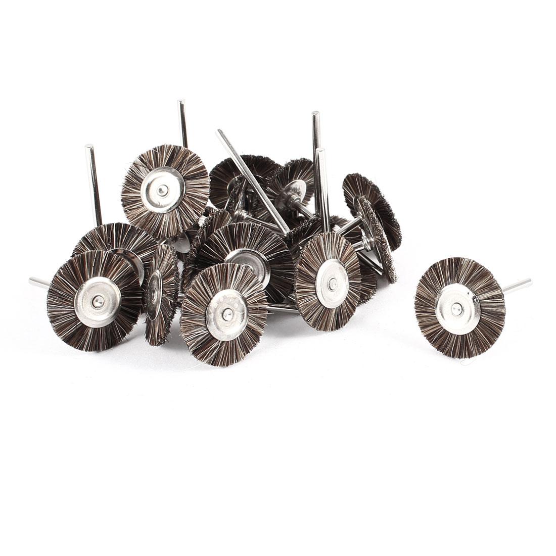 20 Pcs 25mm Dia Gray Nylon Brush Polishing Wheel Polishers for Rotary Tool