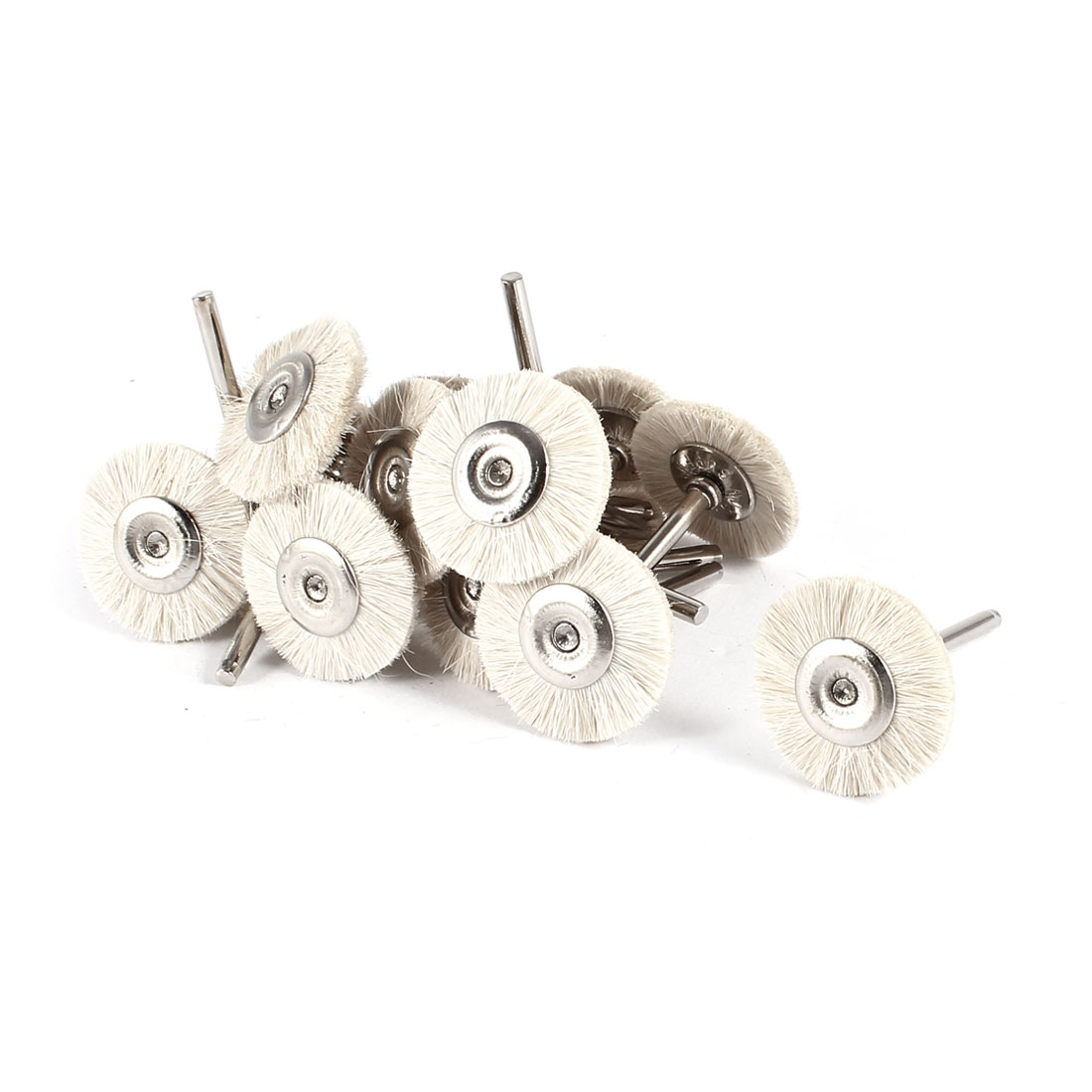 15 Pcs 25mm Dia Beige Brush Polishing Wheel Polishers for Rotary Tool