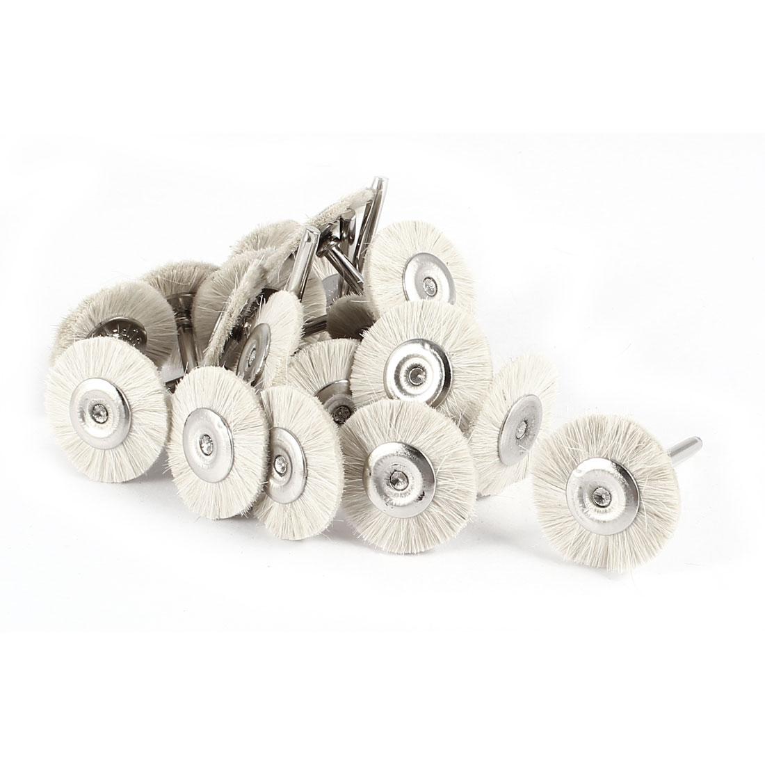 20 Pcs 25mm Dia Beige Brush Polishing Wheel Polishers for Rotary Tool