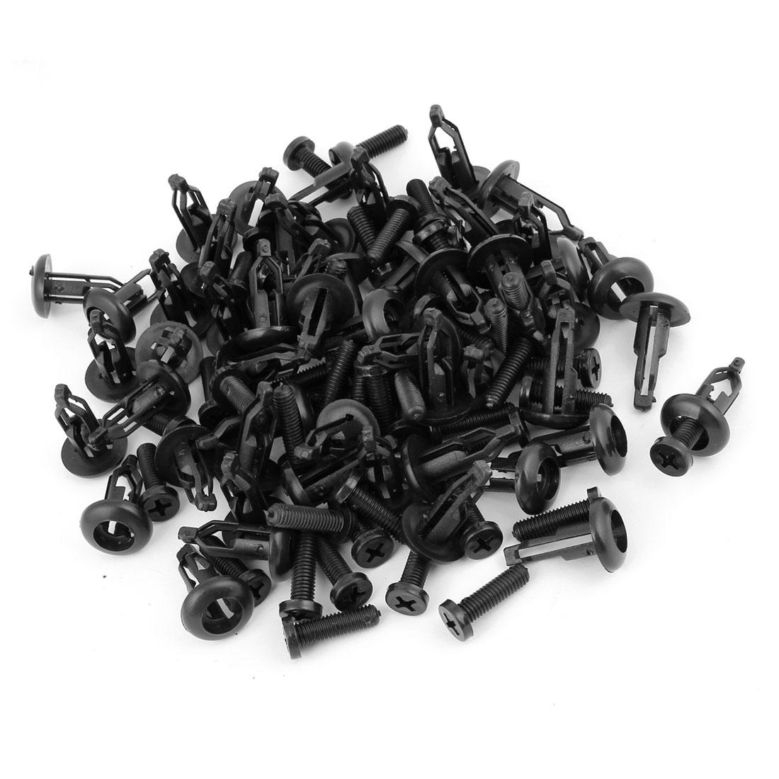 50pcs Plastic Trim Boot Rivets Retainer Clip Black 8.5mm Dia Hole for Car