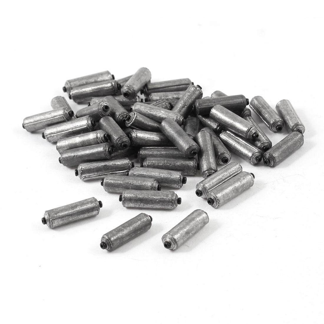 49pcs Cylinder Shape Lead Weight Split Shots Fishing Sinkers 19mm x 5mm 1.5g Per Piece