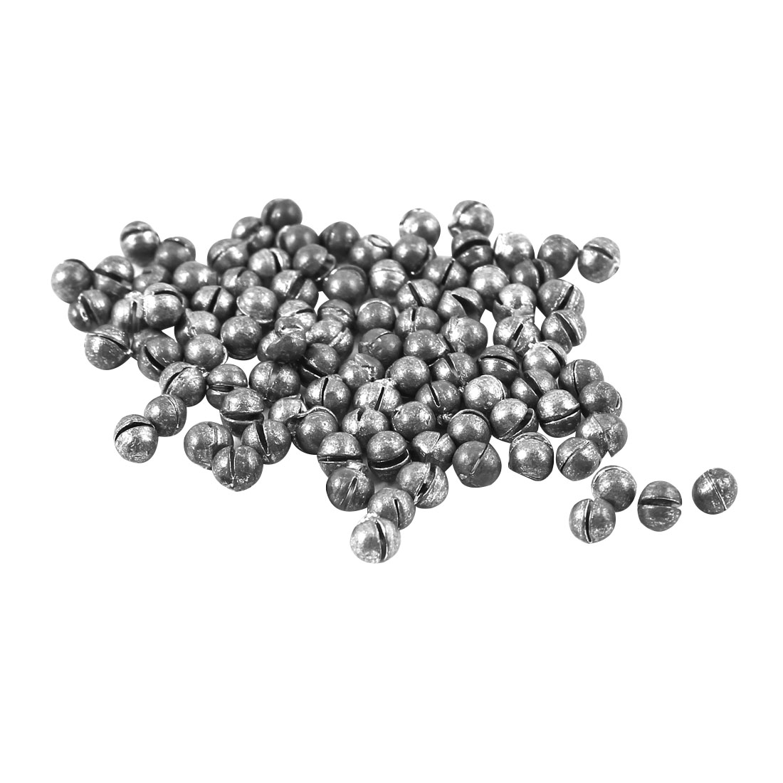 100pcs 3mm Dia Round Shaped Reuseable Lead Split Shots Sinkers Fish Tackle Dark Gray 0.25g Per Piece