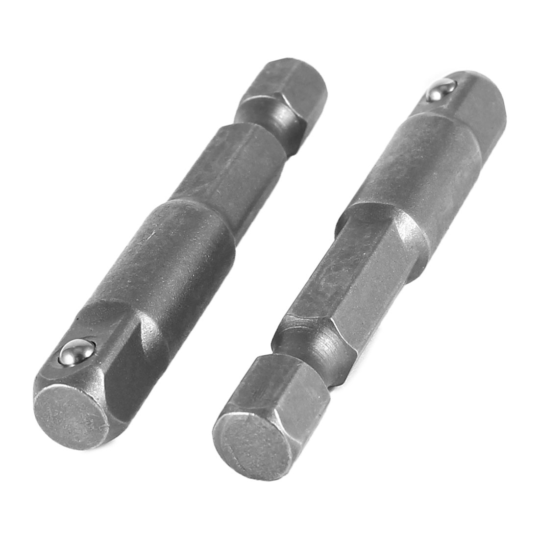 "2 Pcs Impact Driver/Drill 1/4"" Hex Hexagon Shank to 1/4"" Socket Adapter Set"