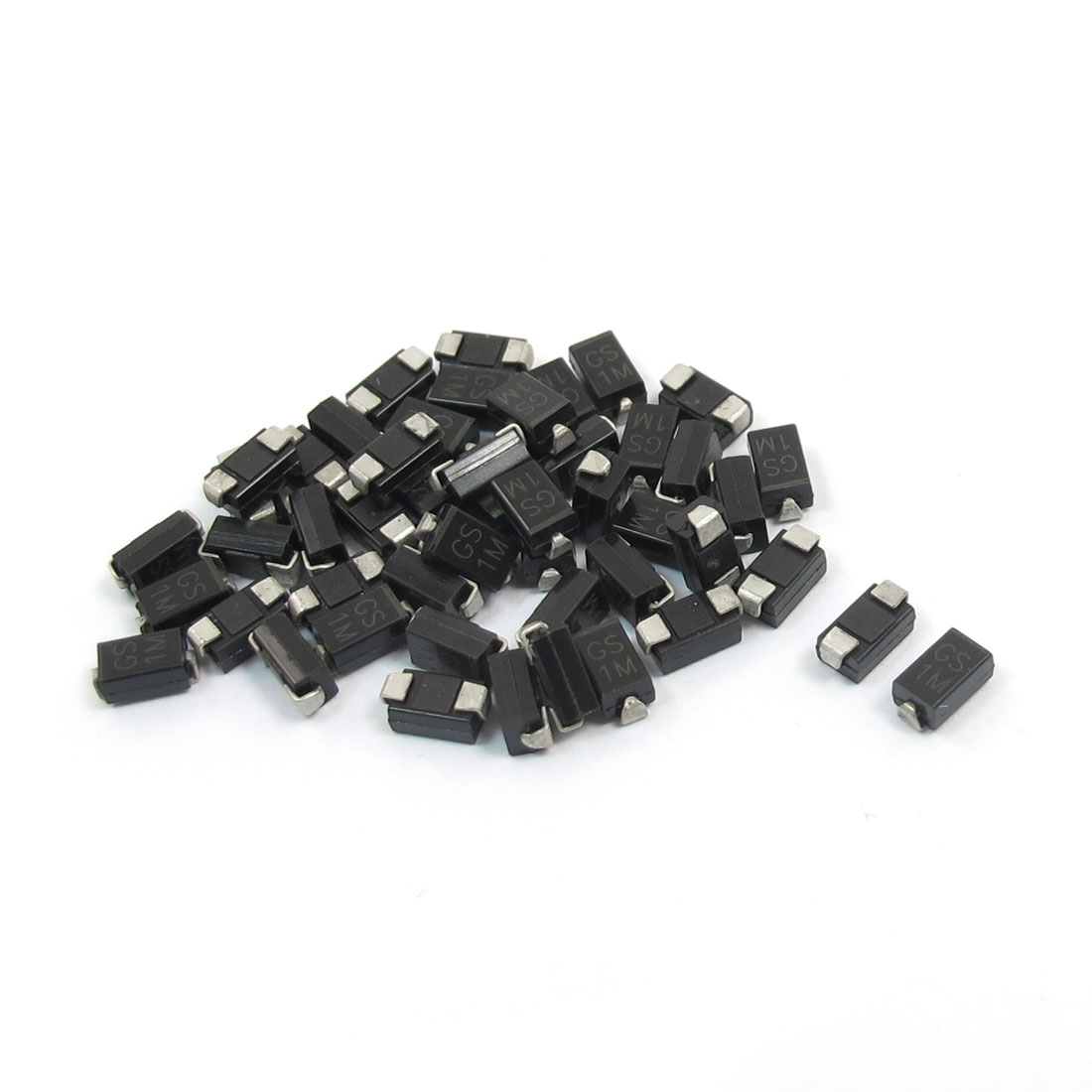 DO-214AC Package 1000V 1A SMD Semiconductor Rectifier Diode GS1M 50pcs