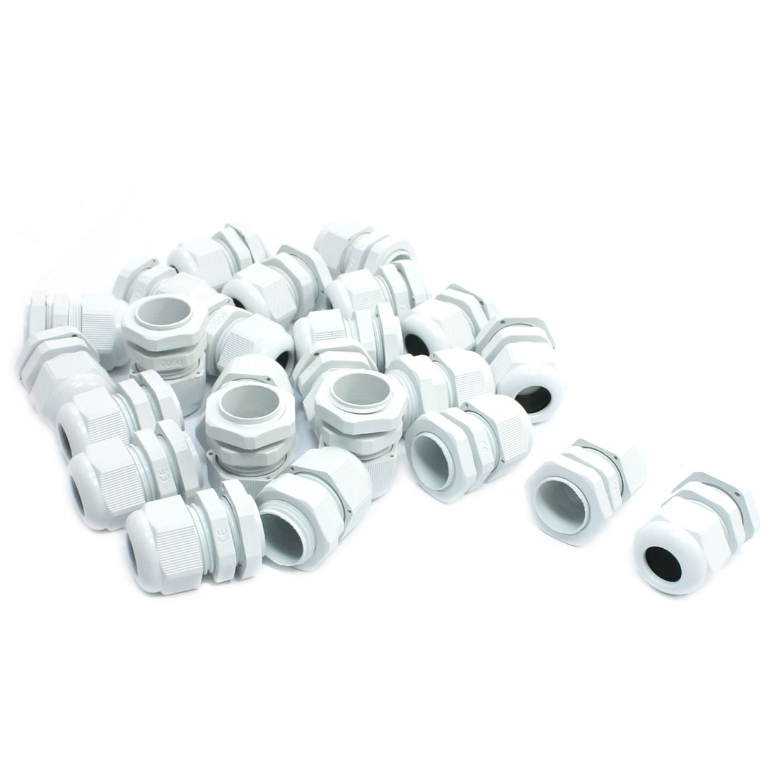 24Pcs PG13.5 6mm to 12mm Waterproof Connector Adapter Joint Plastic Cable Gland White