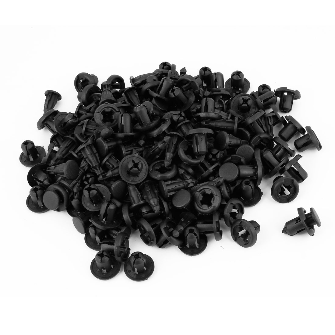 100 Pcs Black Plastic Car Interior Expansion Rivet Trim Liner Push in Panel Clips 10mm Hole Dia