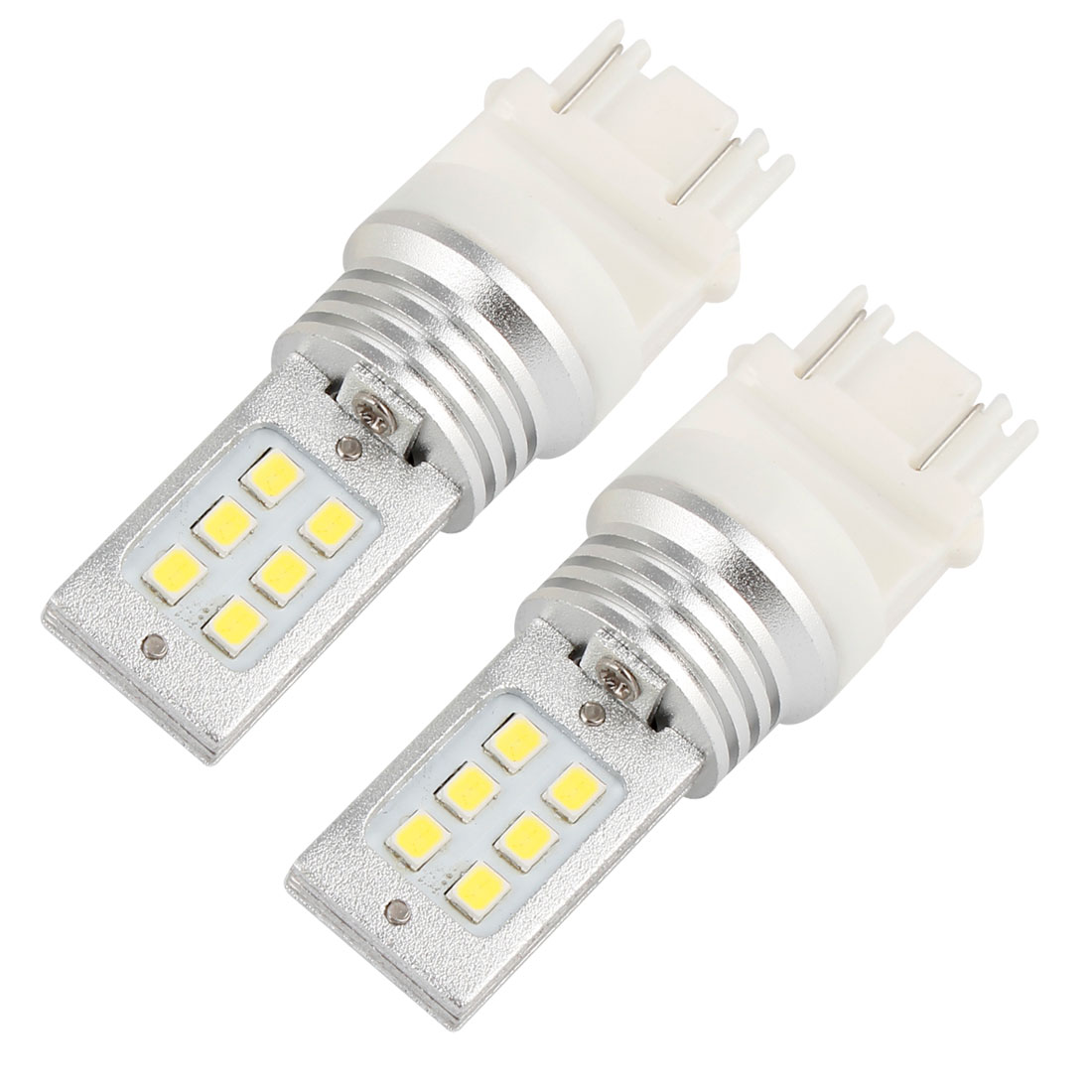 2PCS Car White T25 3157 Socket 3528 SMD 12 LED Lamp Brake Light Bulbs DC 12-24V