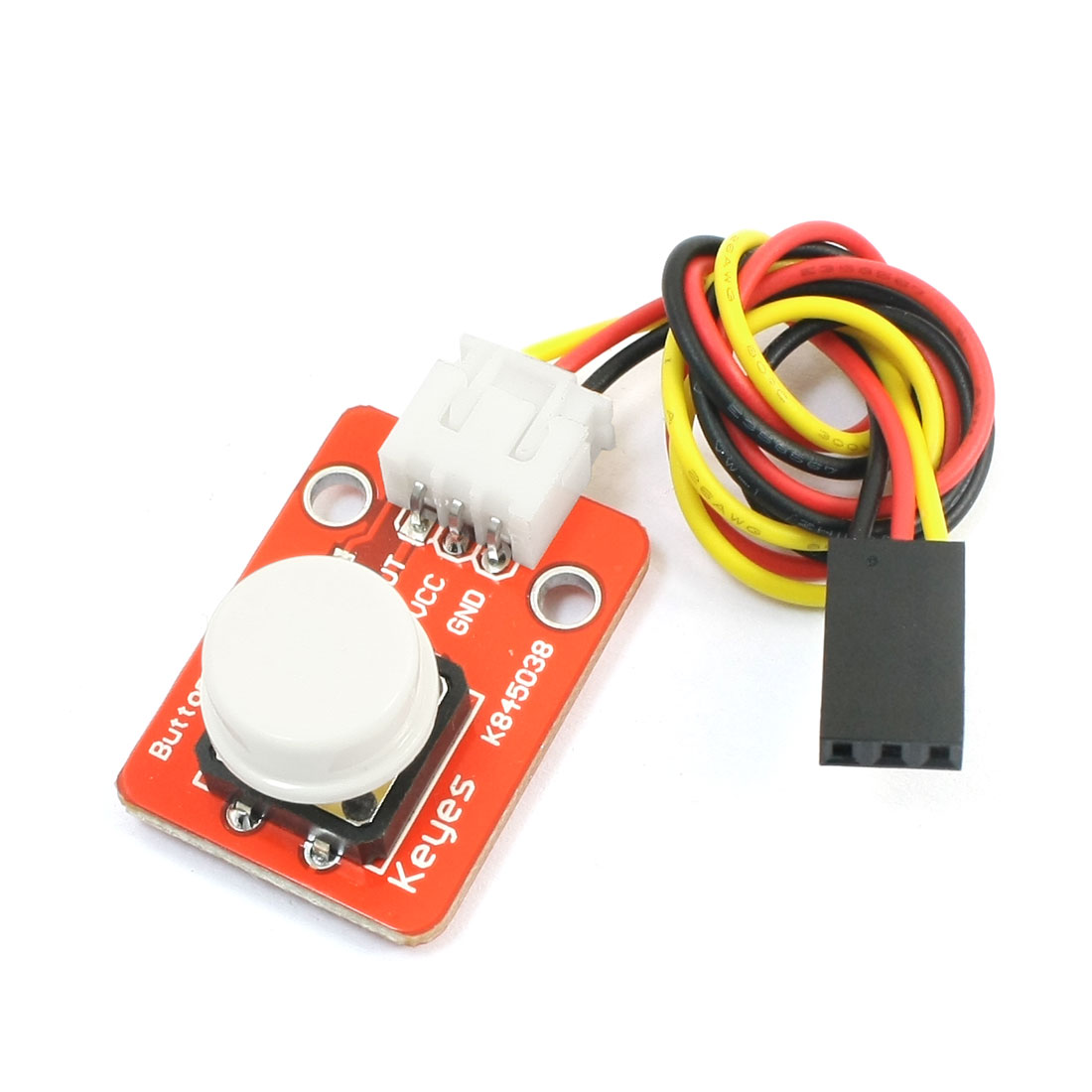 Momentary White Round Push Button Switch Module Board for MCU